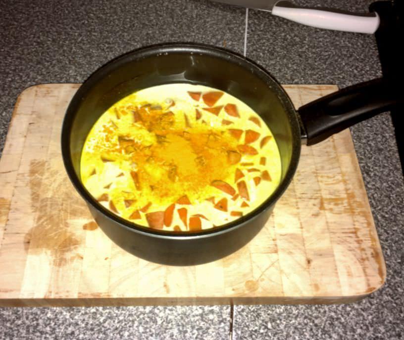 c wortelsoep in de pan