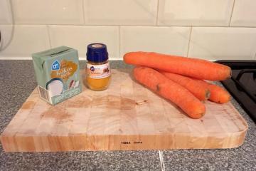 a ingrediënten wortelsoep