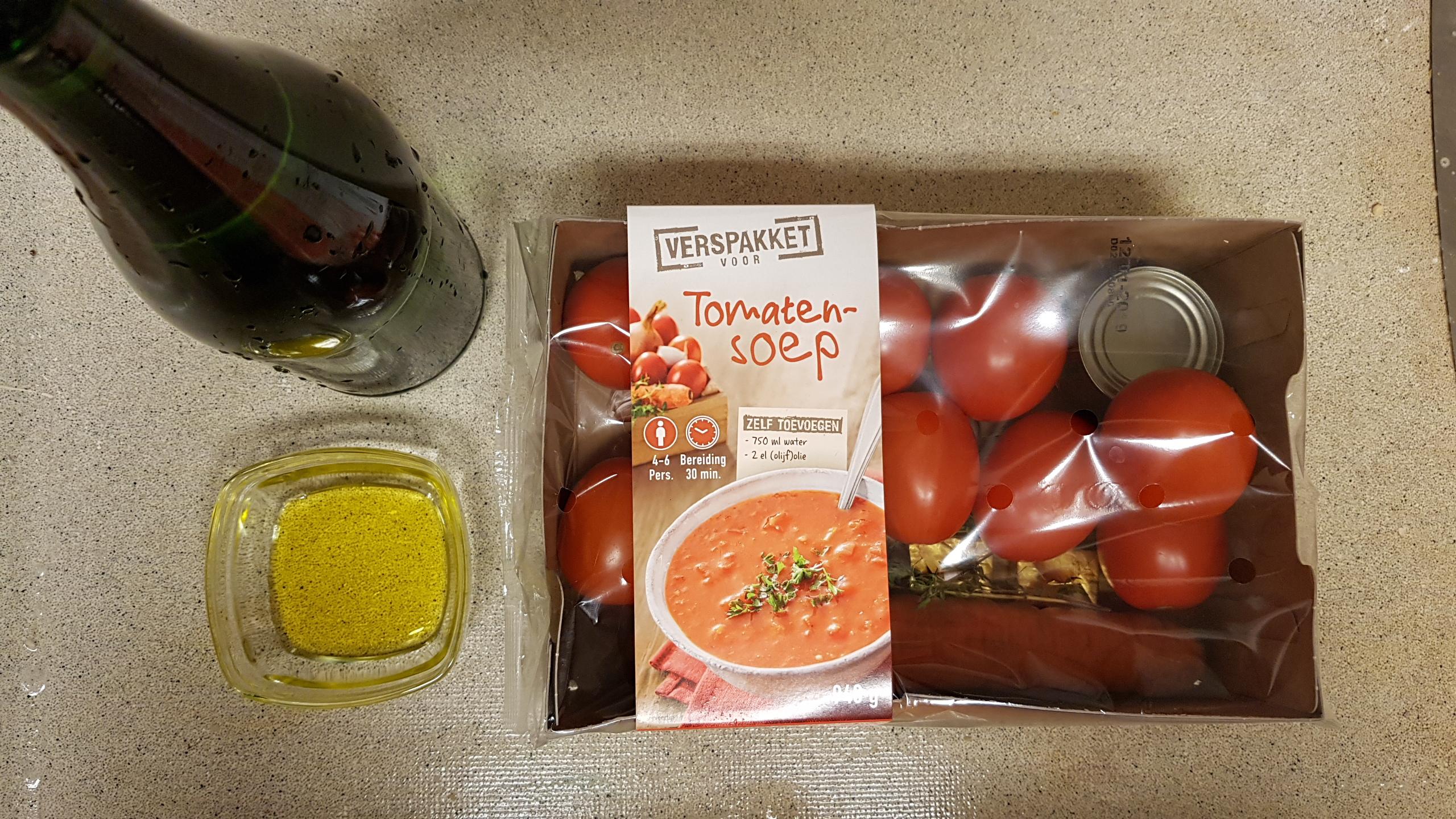 Lidl verspakket voor Tomatensoep