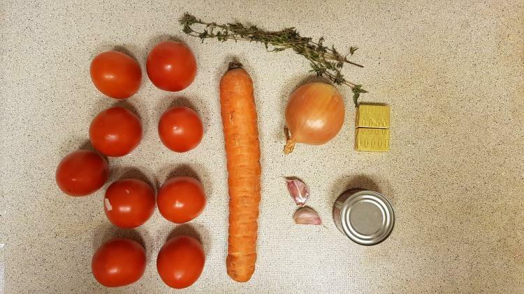 Lidl verspakket voor Tomatensoep vers
