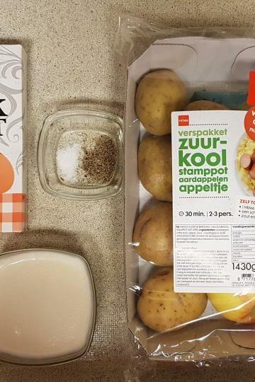 Ervaring Hema verspakket zuurkoolstamppot knoflook