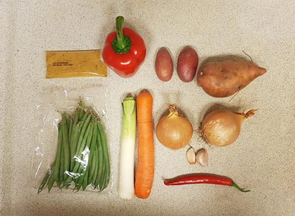 AH verspakket Surinaamse Roti ingredienten maltijdpakket