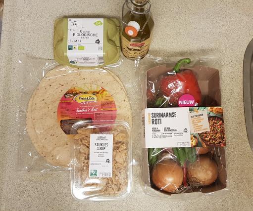 AH verspakket Surinamse Roti ingredienten