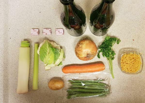 AH verspakket gezonde groentensoep ingredienten