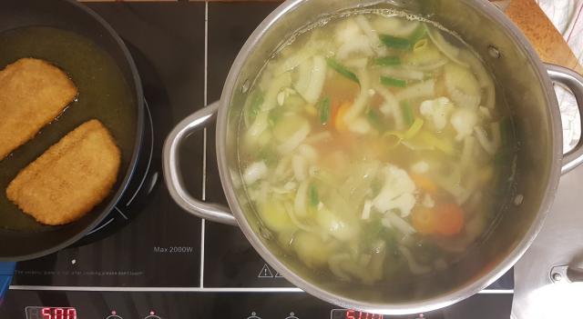 AH verspakket gezonde groentensoep koken