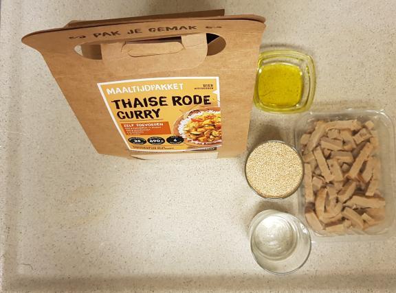 Jumbo verspakket thaise rode curry verpakking en zelf toevoegen