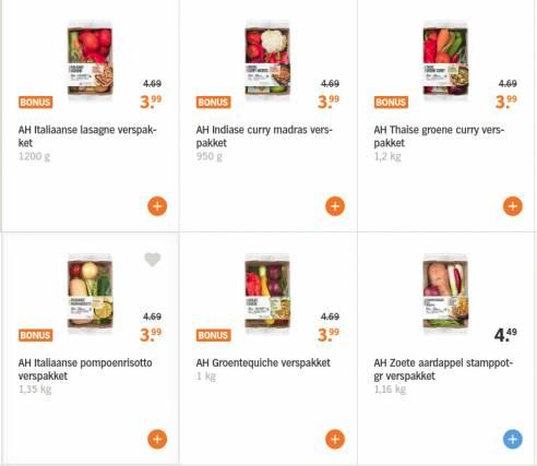 gratis bezorging ah.nl verspakketten