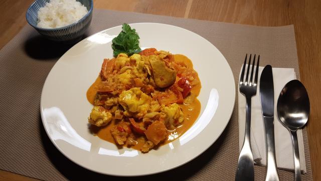 ah verspakket Indiase curry madras close up