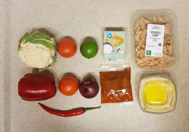 ah verspakket Indiase curry madras ingredienten zelf toevoegen