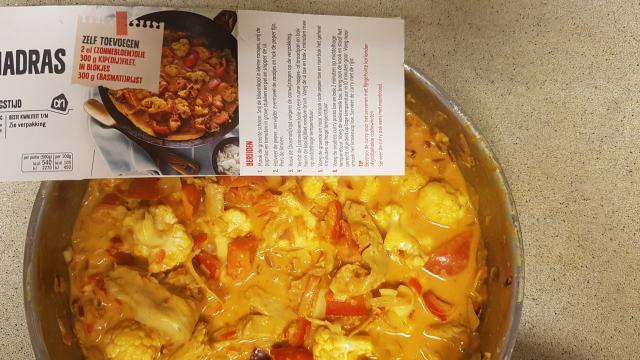 ah verspakket indiase curry madras foto vergelijk