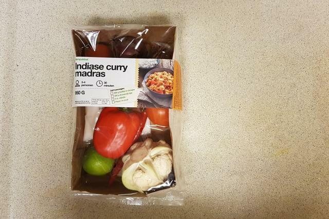 indiase curry madras verspakket hoogvliet doos