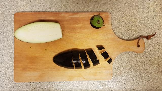 kruidige couscous verspakket lidl aubergine snijden
