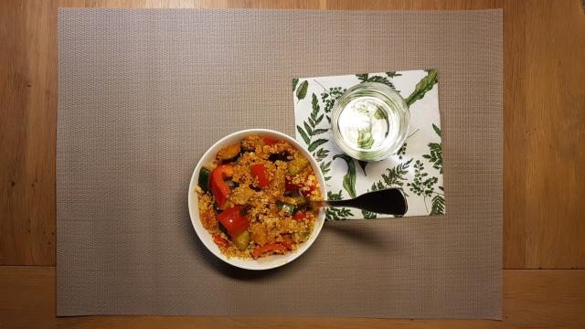 kruidige couscous verspakket lidl op tafel