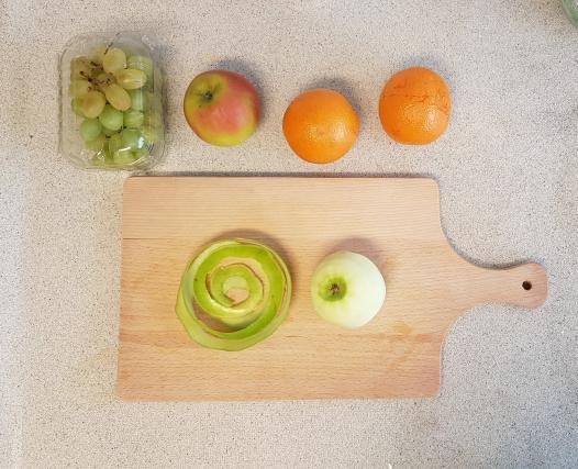 AH verspakket Sinaasappel appel smoothie appels schillen