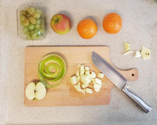 AH verspakket Sinaasappel appel smoothie appels snijden
