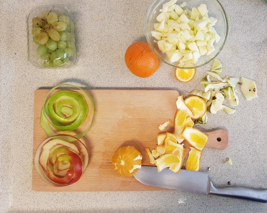 AH verspakket Sinaasappel appel smoothie sinaasappel schillen