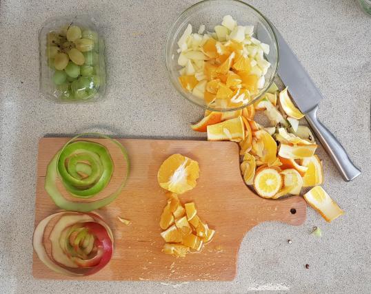 AH verspakket Sinaasappel appel smoothie sinaasappel snijden