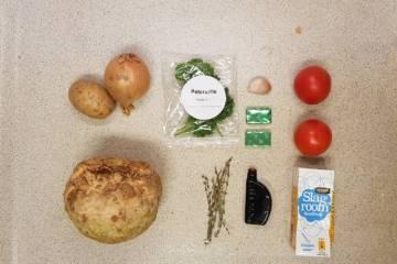 Jumbo verspakket knolselderijsoep met tomaat ingredienten