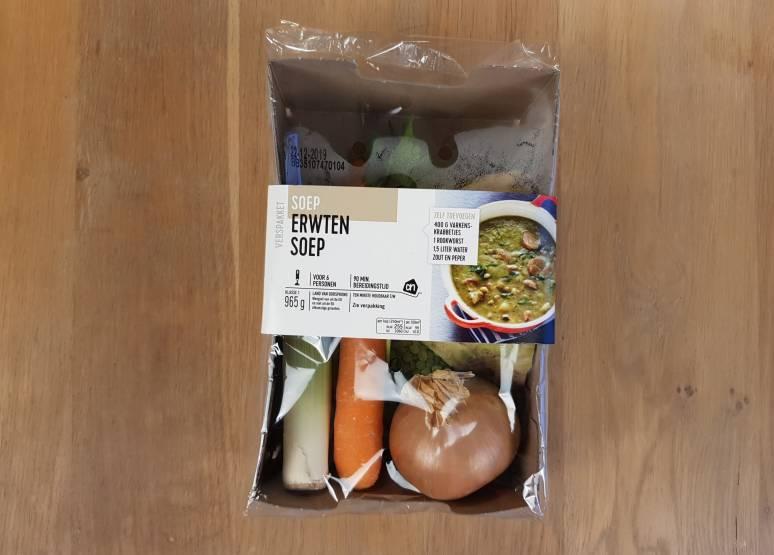 Albert Heijn  verspakket Erwtensoep verpakking