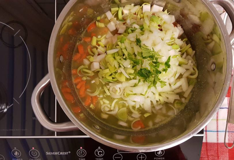 Verspakket Lidl Erwtensoep koken