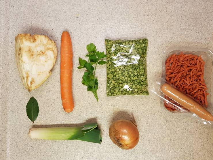 AH erwtensoep AH erwtensoep verspakket ingrediënten verspakket Albert Heijn