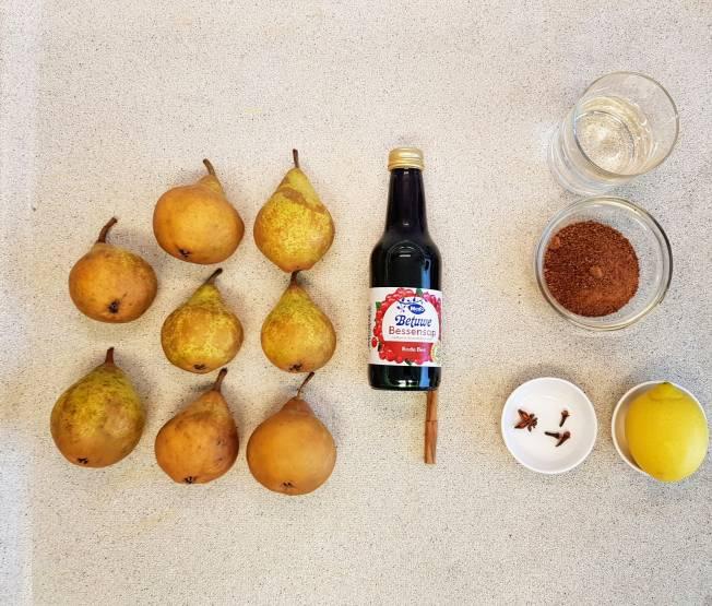 dessert verspakket voor stoofpeertjes van Albert Heijn inhoud