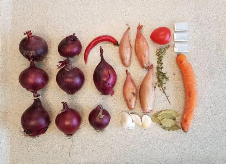 Uiensoep met wortel verspakket plus ingrediënten