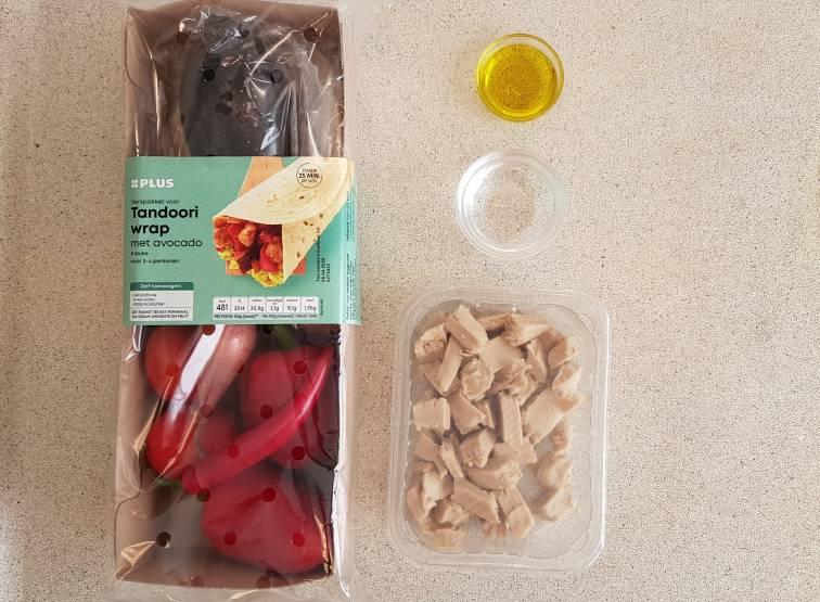 Tandoori wrap met avocado van plus verspakket verpakking 8710624850258
