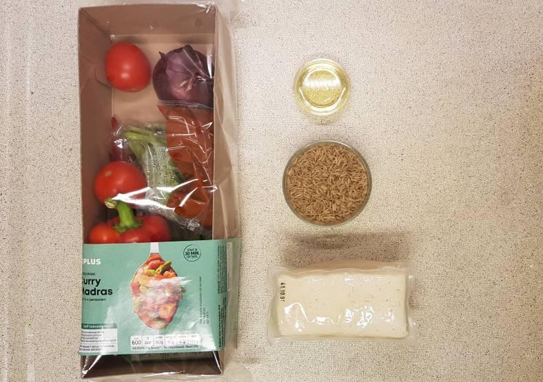 curry madras plus verspakket verpakking met zelf toevoegen